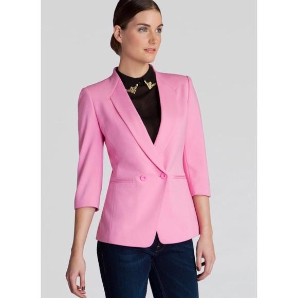 7c06ec268 Ted Baker Bright Pink Meeda Double Breasted Blazer.  M 5b89ca5a74359b6e1fd35328